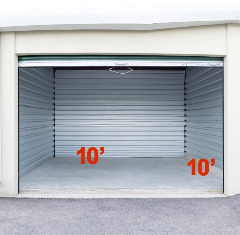A Another Room Self Storage Units 10x10 Dimensions