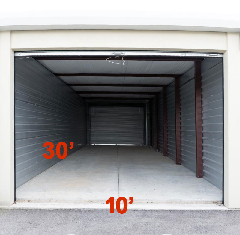 A Another Room Self Storage Units 30x10 Dimensions