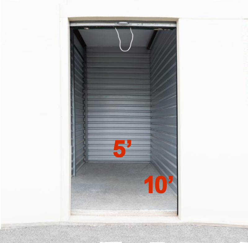 A Another Room Self Storage Units 5x10 Dimensions